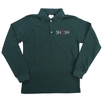 Picture of SHSH Daily Uniform Green Youth Polo Long Sleeve