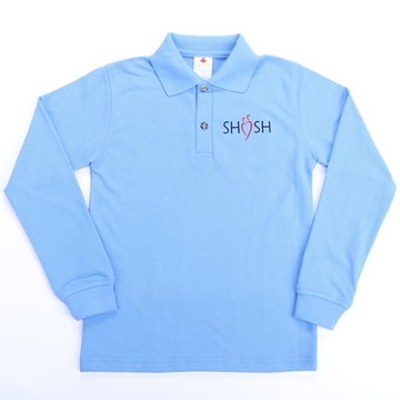 Picture of SHSH Daily Uniform Blue Youth Polo Long Sleeve