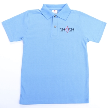 Picture of SHSH Daily Uniform Blue Youth Polo Short Sleeve